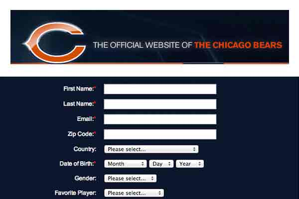 The chicago bears schedule account